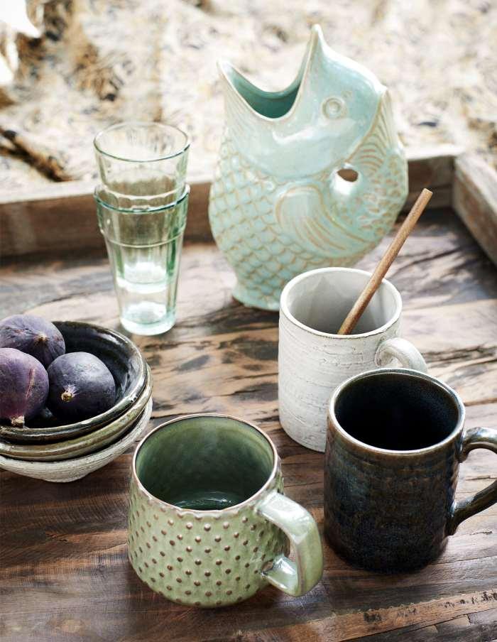 Three Rustic Stoneware Bowls, Madam Stoltz