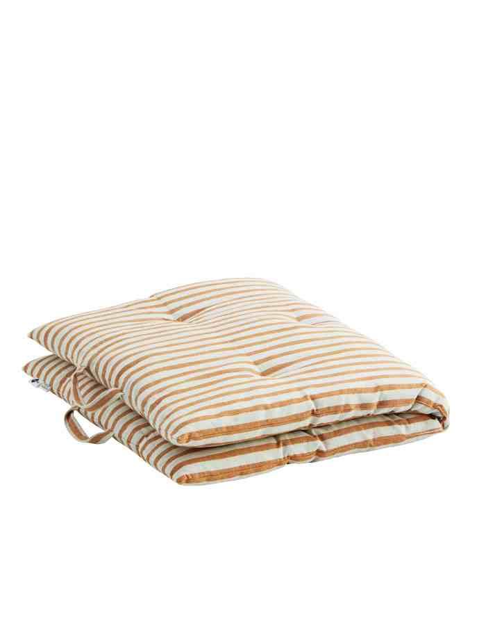 Striped Cotton Bench and Floor Cushion, Madam Stoltz