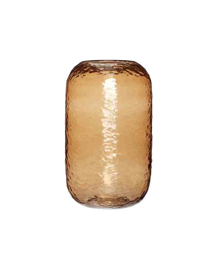 Tall Amber Glass Vase, Hubsch