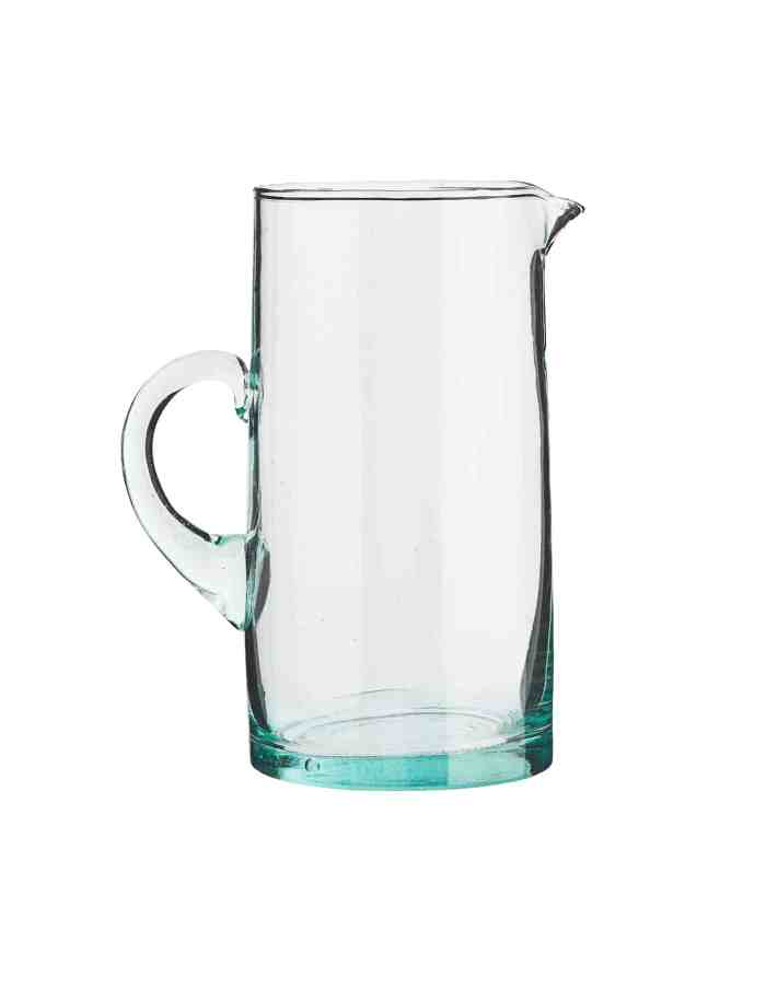 Tall Recycled Moroccan Beldi Jug, Clear