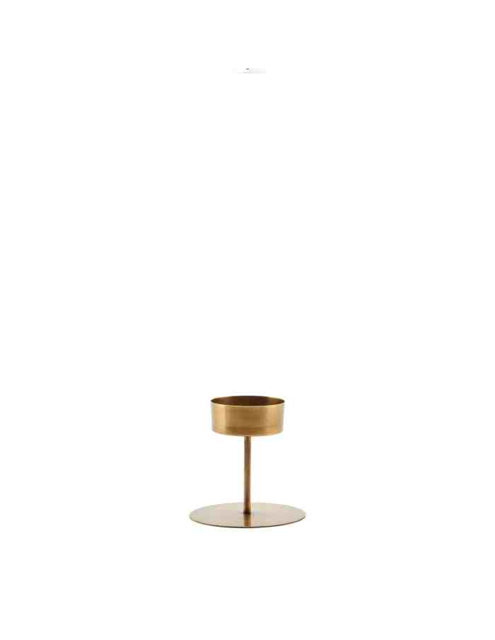 Tealight Brass Candle Stand, House Doctor