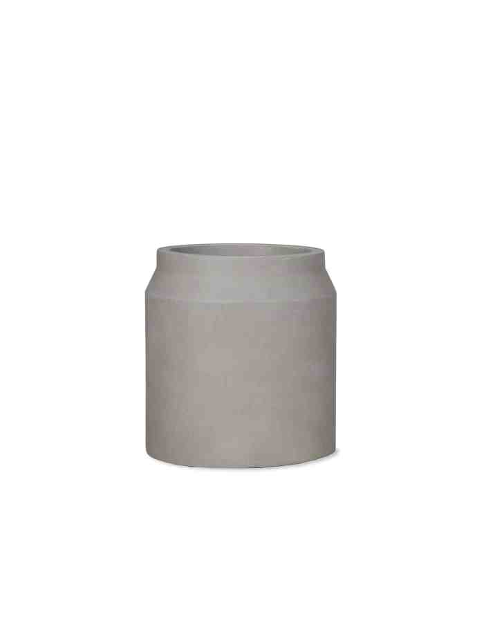 Medium Contemporary Planter, Grey
