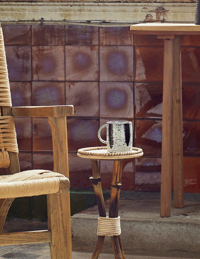 Striped Stoneware Mug, Madam Stoltz