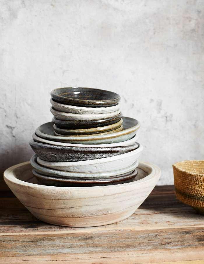 Handmade Rustic Stoneware Bowl Set, Madam Stoltz