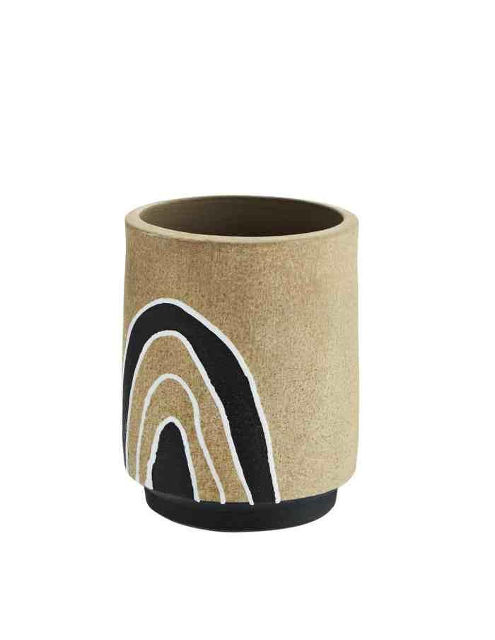 Tonal Cylinder Plant Pot Vase, Madam Stoltz