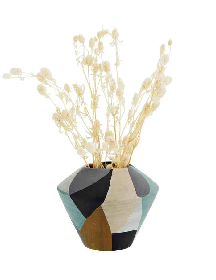 Trapeze Terracotta Vase, Madam Stoltz