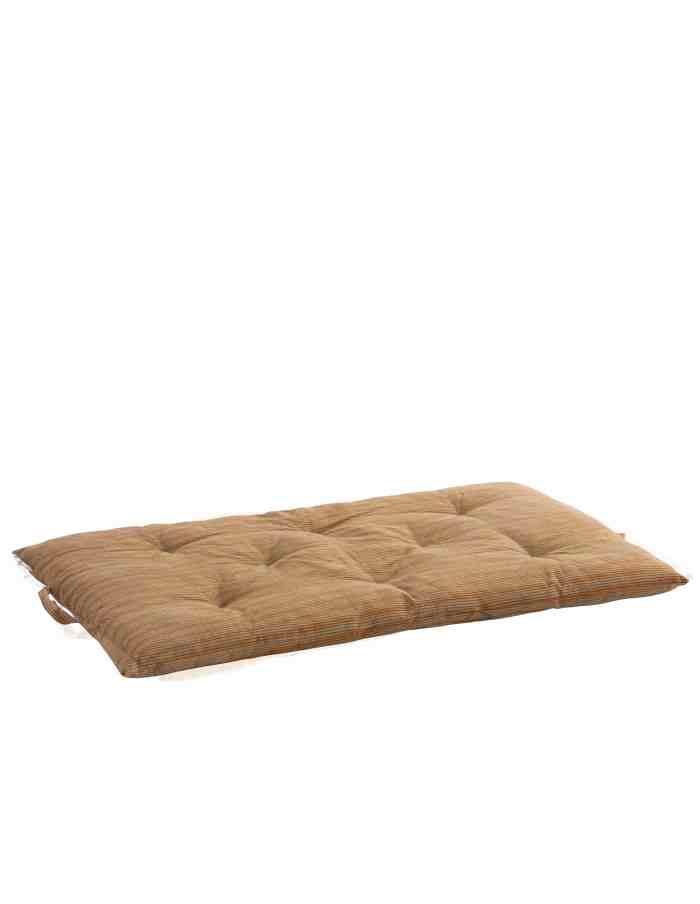 MP-60Brown Striped Bench and Floor Cushion, Madam Stoltz100-50