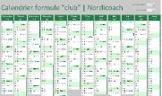 calendrier de la formule club