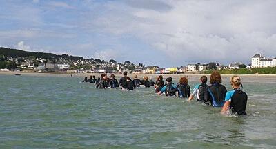Longe-côte : marcher dans l'eau de mer