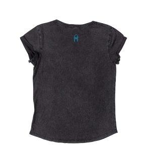Stonewash T-shirt NORDIC Big Puff Black