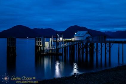 Tenakee Fuel Dock at Night