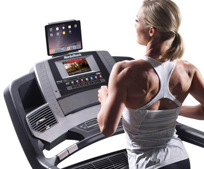 console of nordictrack 2450 treadmill