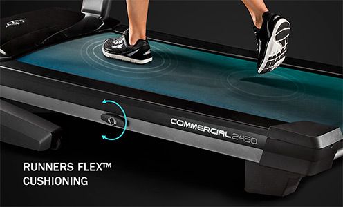 nordictrack commercial 2450 treadmill review - cushioning