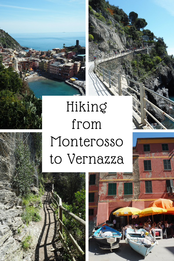 Hiking from Monterosso to Vernazza is a beautiful and sweat drenching ordeal. Here you find info on prices, how to get a trekking card, how to get to and from Cinque Terre and much more. #hiking #cinqueterre #monterosso #vernazza #italy