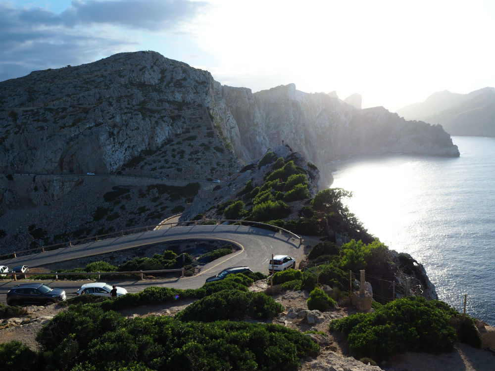 The view from the lighthouse on Cap de Formentor in the Tramuntana mountain range