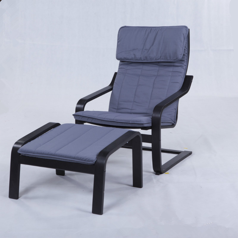 Bentwood Armchair And Stool Set With, Bent Wood Arm Recliner