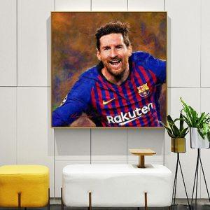 Lionel Messi Retro Canvas Prints Farewell Wall Art Home Decoration Poster