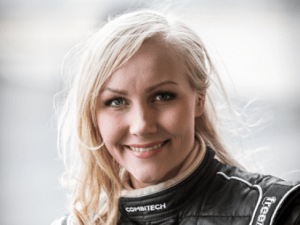 Emma Kimilainen. Unterwegs auf Saab 9-3 STCC