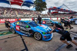 2015 V8 Supercar Championship Round 1. Clipsal 500, Adelaide, Australia. Sunday 1st March 2015. David Wall drives the #34 Wilson Security Racing GRM Volvo, Scott McLaughlin drives the #33 Wilson Security Racing GRM Volvo World Copyright: Volvo Polestar Racing