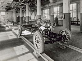 Volvo Produktion 1927. Bild: Volvo Cars.