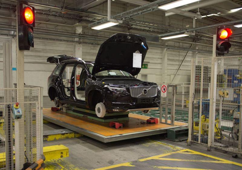 Volvo XC90 Produktion in Torslanda. Bild: Volvo Cars