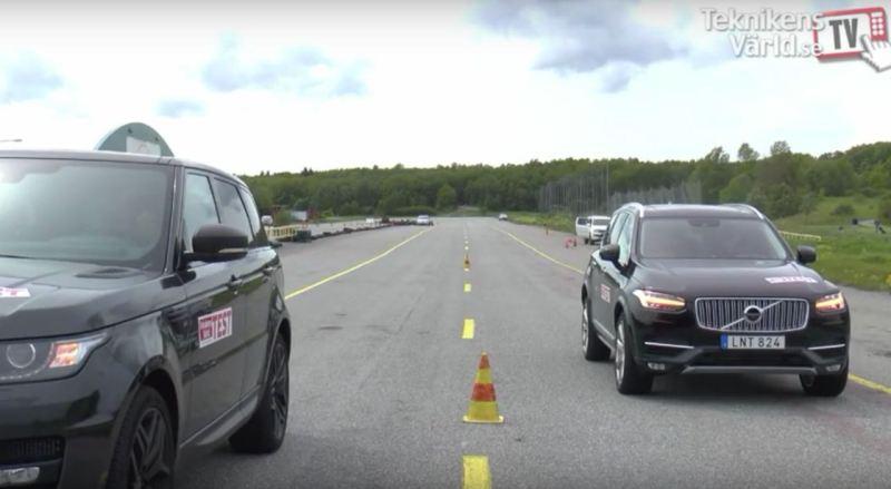 Volvo XC90 D5 AWD gegen Range Rover Sport.