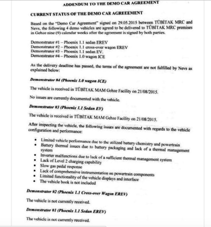 NEVS - Tübitak Vereinbarung