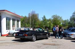 Saab Treffen Oldtimer-Tankstelle