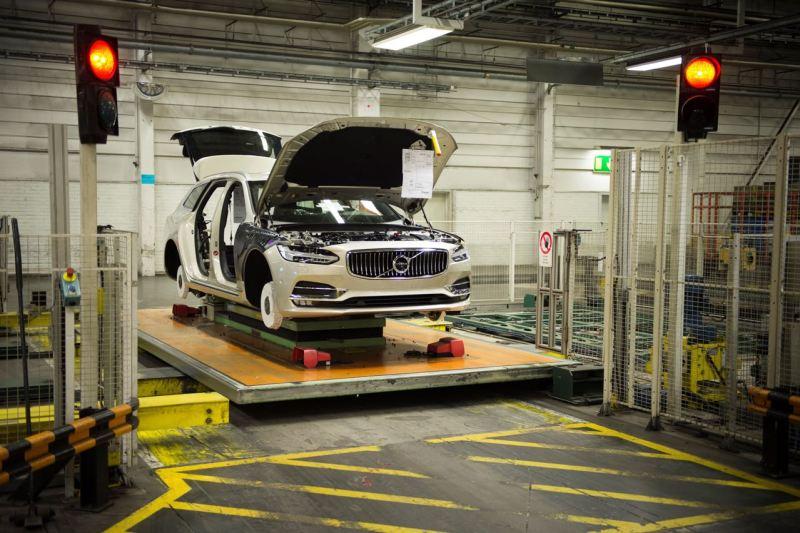Produktionsstart Volvo V90 in Torslanda. Bild: Volvo Cars