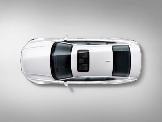 Birds Eye Volvo S90 White