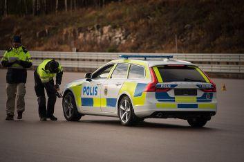 Abnahmetest Volvo V90 Polizeiauto. Bild: Volvo Cars.