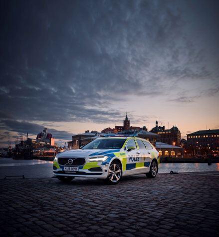 Volvo V90 Polizeiauto. Bild: Volvo Cars.