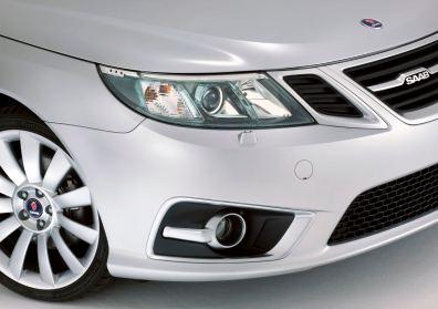 Scheinwerfer im Eisblock Design und neue Felgen beim 9-3 Griffin. Bild: Saab Automobile AB