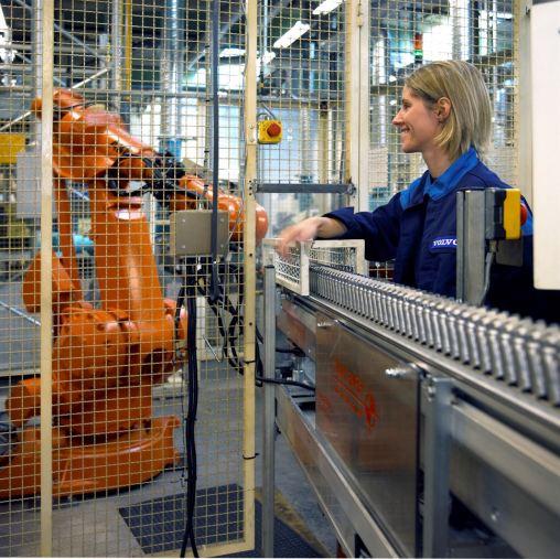 Produktion von Komponenten in Floby. Bild: Volvo Cars