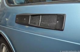 Detail des Saab 900 Safari im Saab Museum.