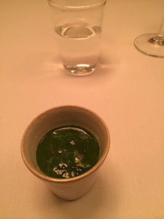 Algae broth with lovage