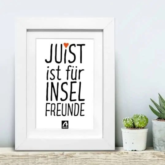 Poster Letter Juist - NORDIG Inselliebe