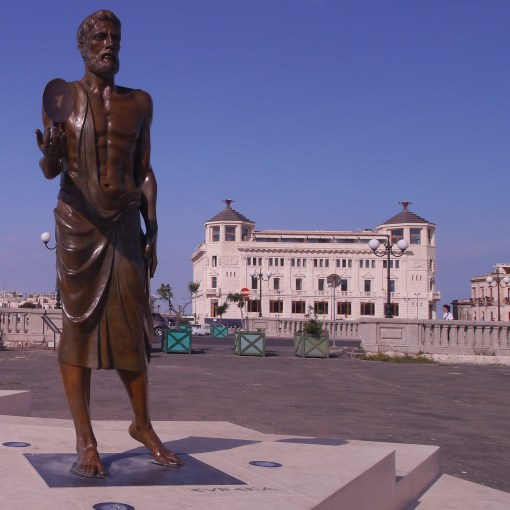 Archimedes at the gateway to Ortygia
