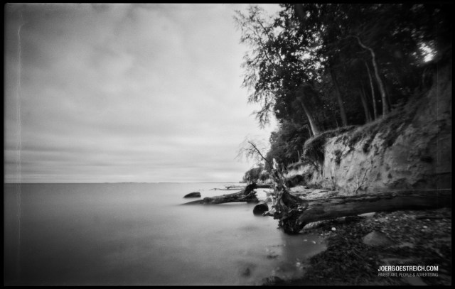 6x9 cm custom made pinhole Camera with 0,2 mm pinhole from RSS, F/170, Ilford FP4, 4 min exposure, D76 1+1