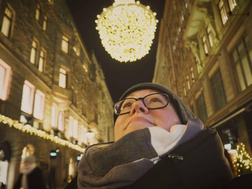 Weihnachtsbeleuchtung rund um die Aleksanterinkatu