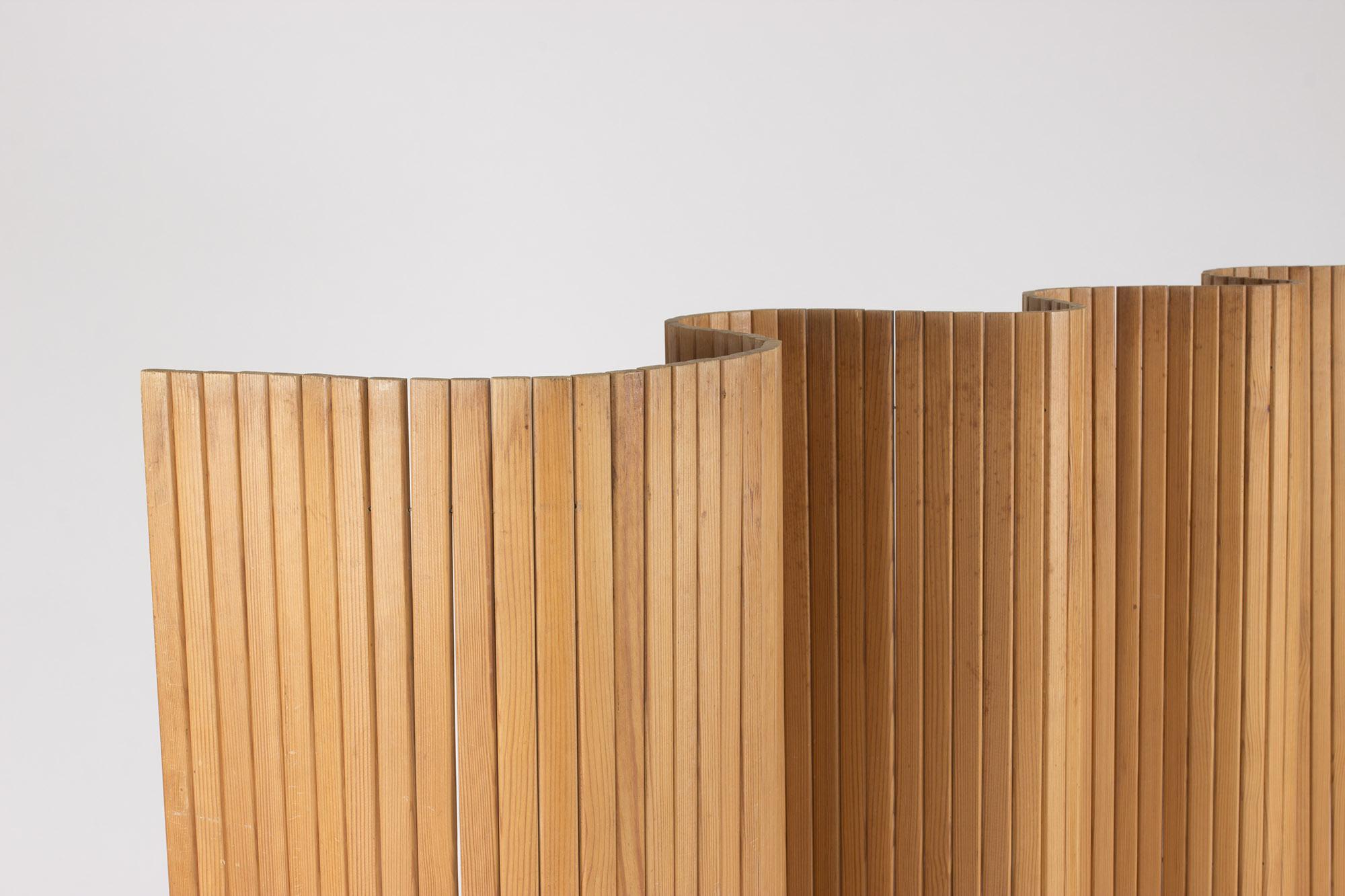 Pine Wood Room Divider By Alvar Aalto Vintage Mid