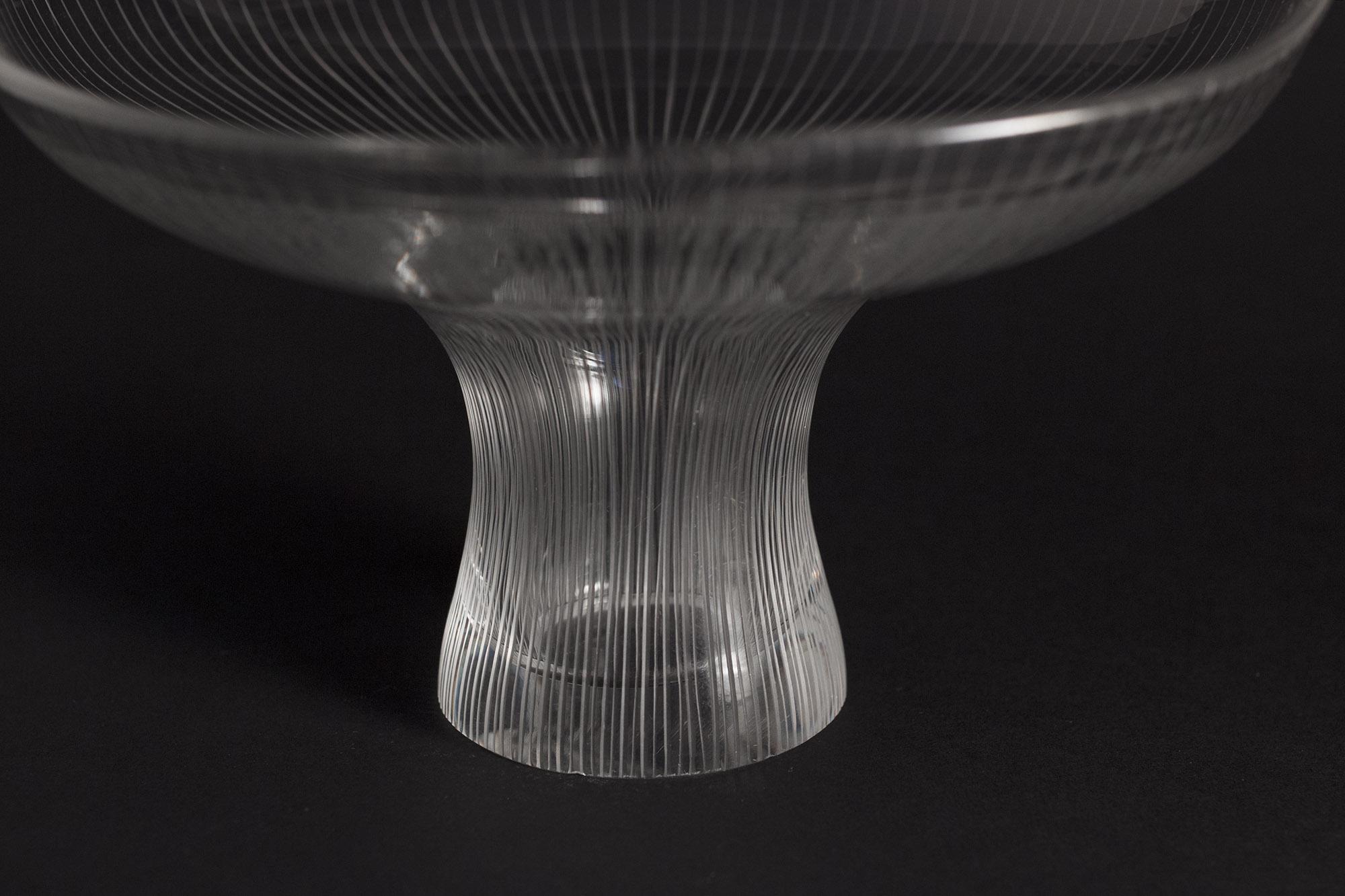 Glass Kantarelli bowl by Tapio Wirkkala  Vintage Mid