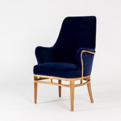 Velvet Chair Design Counter Top Chairs Midnight Blue Lounge By Carl Axel Acking