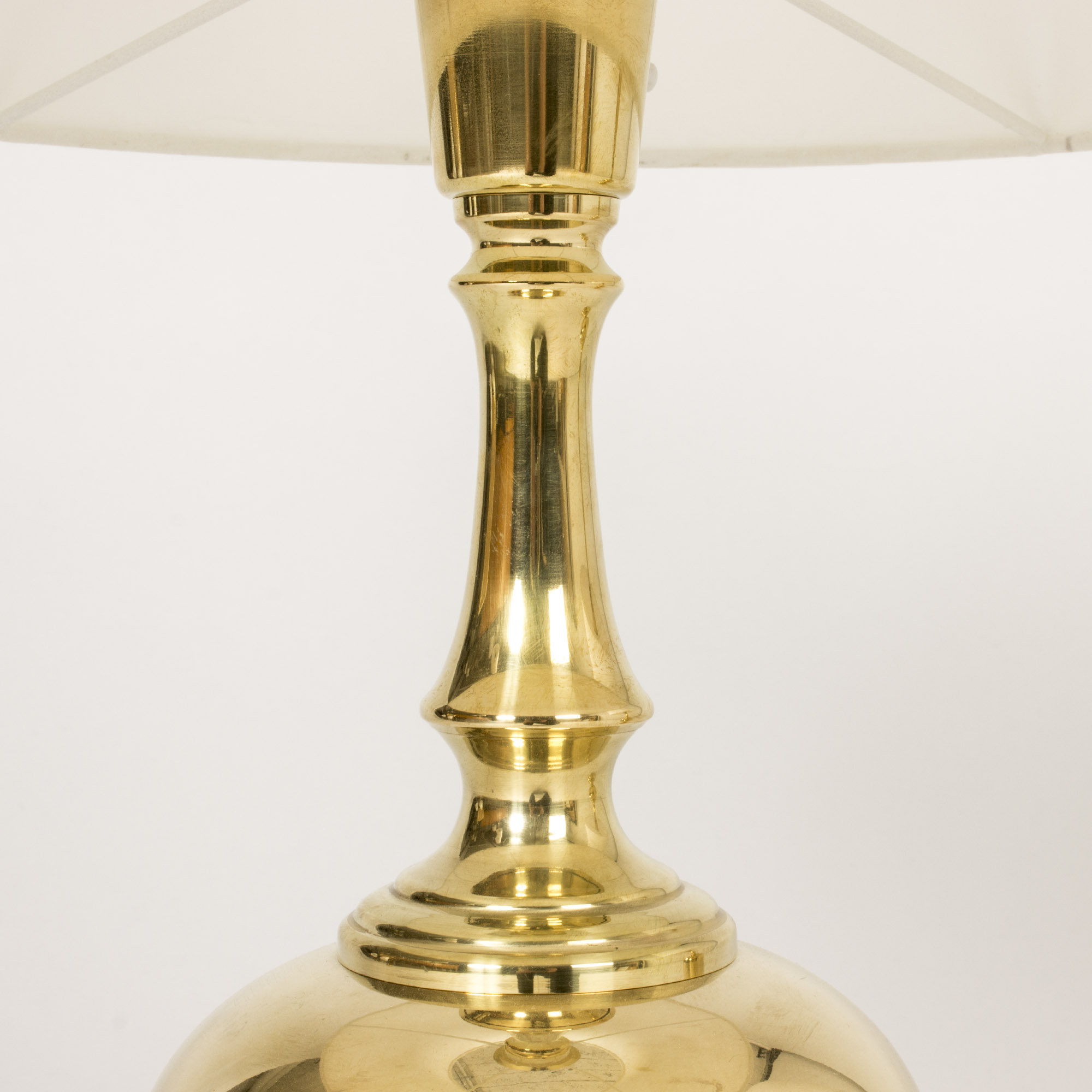 Pair of brass floor lamps from Atena Vxj  Vintage Mid