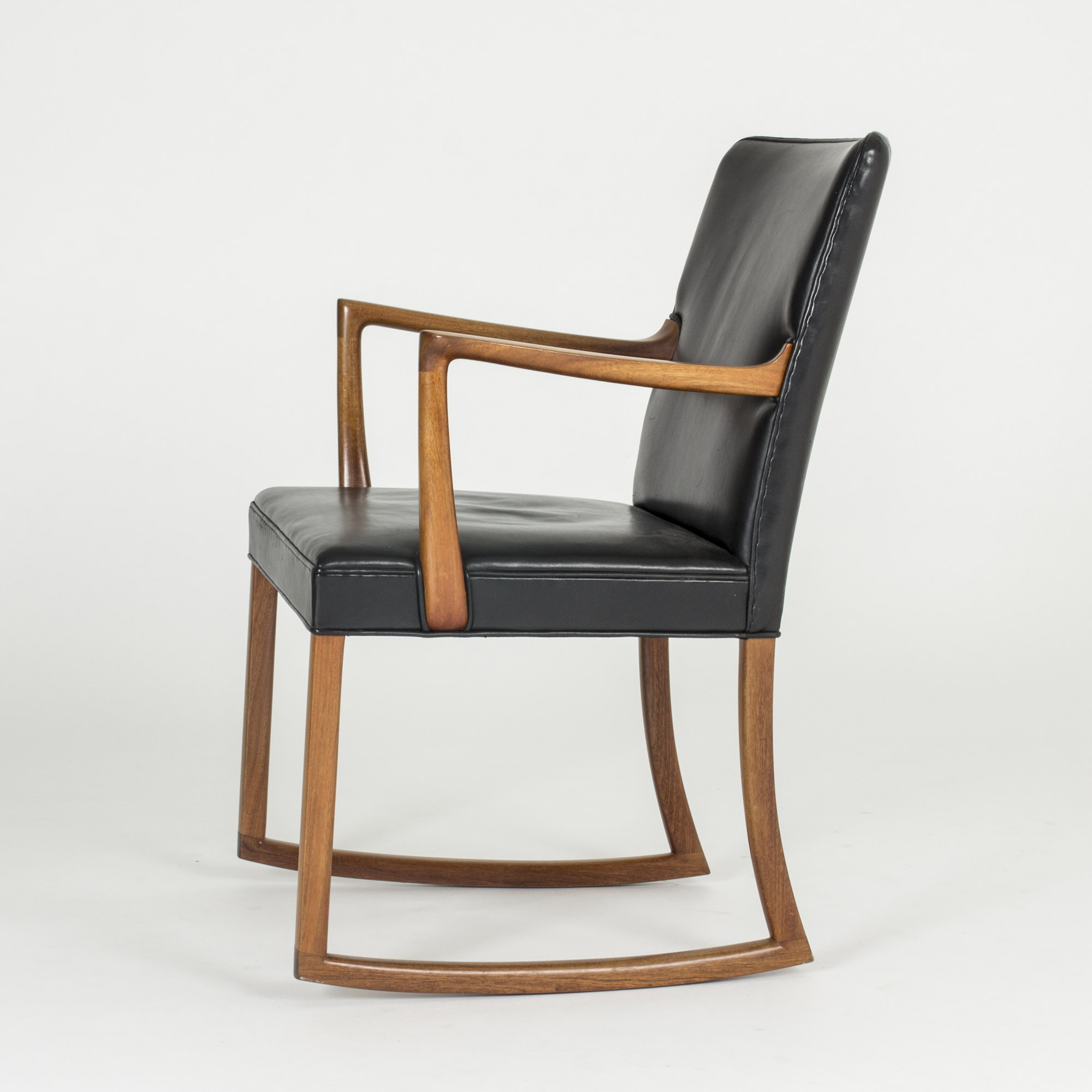 Leather Rocking Chair Rosewood And Leather Rocking Chair By Ole Wanscher