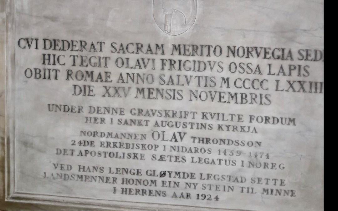 Graven i Roma til erkebiskop Olav Trondsson fra Aspa