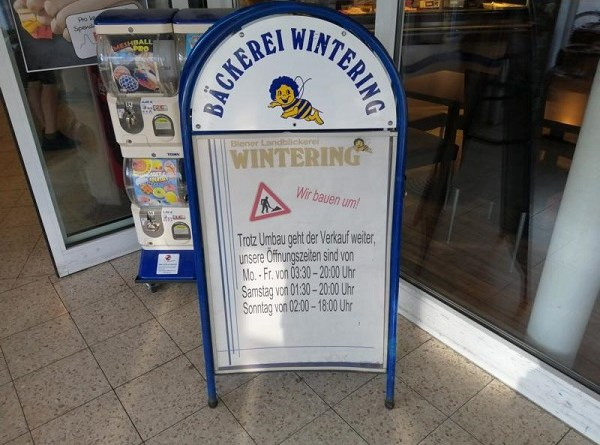 Biener Café Wintering - Verkauf geht trotz Umbau weiter - Foto: NordNews.de