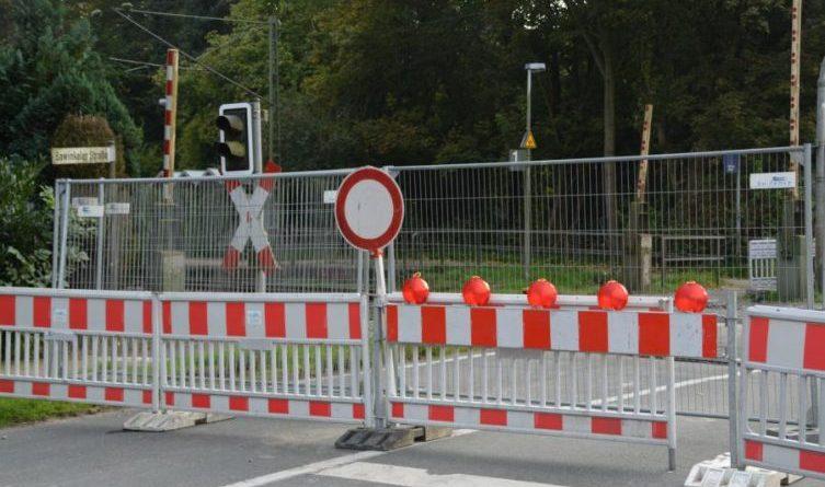 Bahnübergänge gesperrt