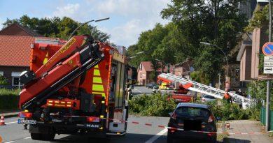 Erste Unwetterschäden in Lingen Foto: NordNews.de