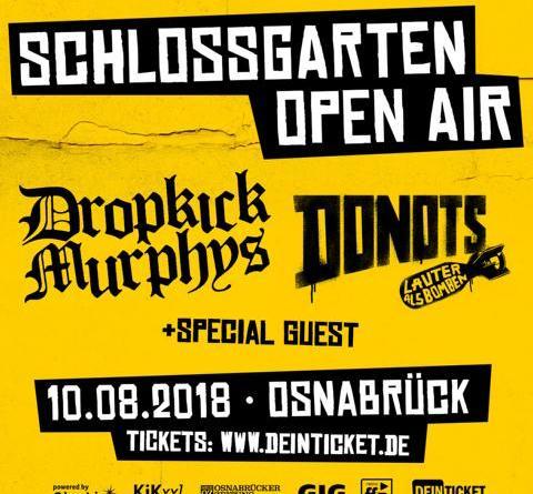 SCHLOSSGARTEN OPEN AIR 2018 - DROPKICK MURPHYS + DONOTS + weiterer Act 10.08.2018 / Osnabrück